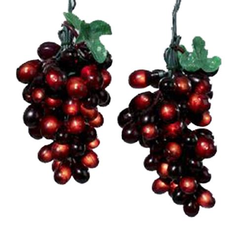 elegant burgundy grapevine string lights grape cluster