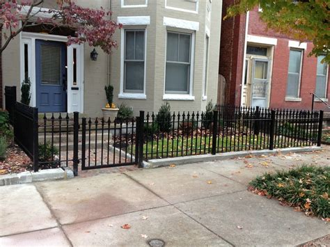 backyard metal fence elegant and cool front yard fence ideas for your home homestylediary com