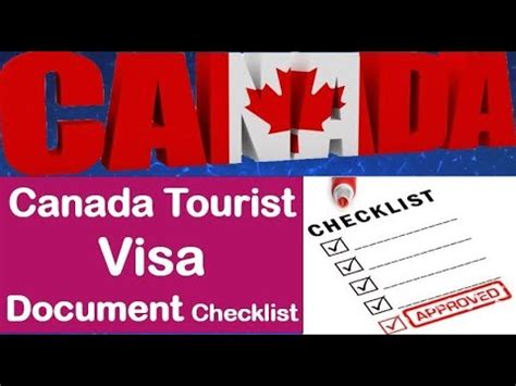 canada tourist visa documents checklist canada visitor