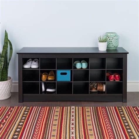 black shoe storage bench 18 cubby shoe storage bench in black bss 4824