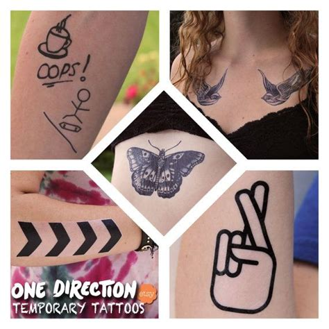 one direction temporary tattoos one direction inspired temporary tattoos on etsy 12 95