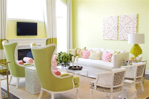 pink and green home decor lime green living room designs always in trend always