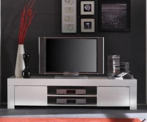 Rimini Collection Large TV Unit   Gloss White   TV & media