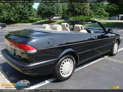 saab convertible black 1996 saab 900 s convertible black gray photo 4