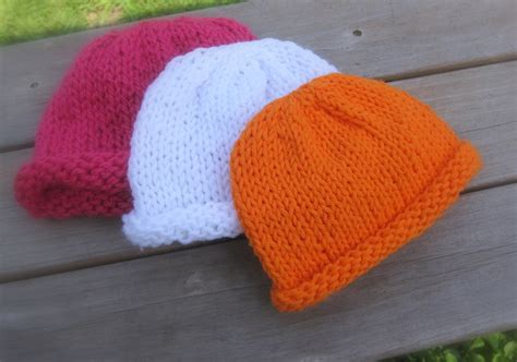 easy to knit baby hat patterns of