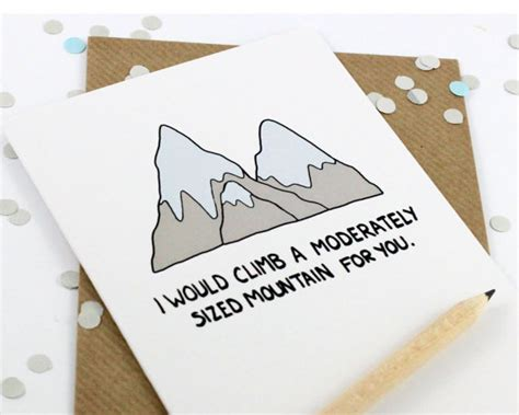 make bake and love happy new home gift idea funny romantic card valentines card mountain by