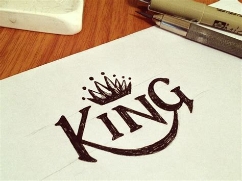king lettering by caleb sylvest dribbble