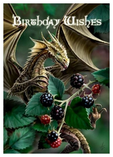 pagan greeting card blackberry dragon birthday wishes