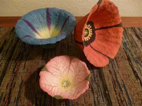 How To Make A Paper Mache Flower - 25 best ideas about paper mache bowls on