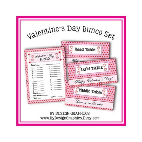 Bunco Punch Card Template by 1000 Images About S Day On
