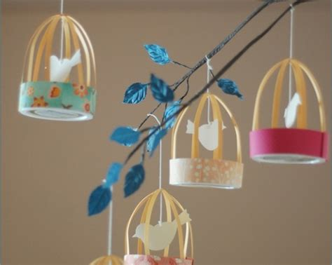 Beautiful Paper Crafts - paper mobile 10 beautiful birdcage craft projects