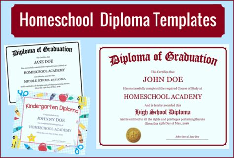homeschool id template homeschool diploma templates free for homeschoolers