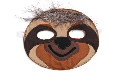 sloth mask template sloth mask printable www imgkid the image kid has it
