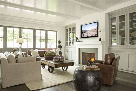 Classic Car Wallpaper Set In Trim Shop by Cozy Family Room With Wood Floors Leather Chairs