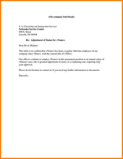 Confirmation Letter Doc 5 Employment Confirmation Letter Template Doc Joblettered