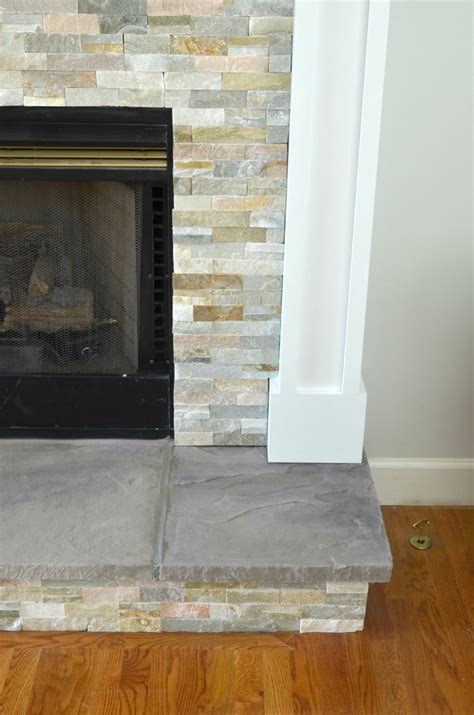 diy pebble backsplash diy fireplace makeover at home with the barkers