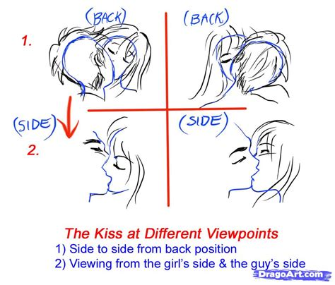 how to kiss tutorial with pictures how to sketch an anime kiss step by step anime people