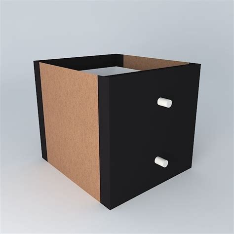 Drawers For Expedit by Insert Kallax Expedit Drawers Black Brown Free 3d