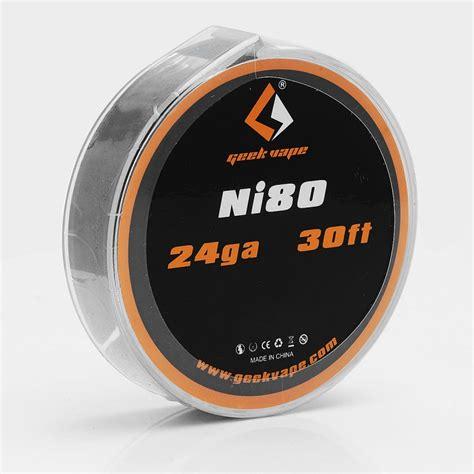Geekvape Vape Wire Nichrome 80 Ni 80 24 Awg 30 Ft Kawat Vape authentic geekvape ni80 24ga 0 5mm 10m heating resistance wire
