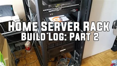 how to build a server rack at home home server rack build log part 2 youtube