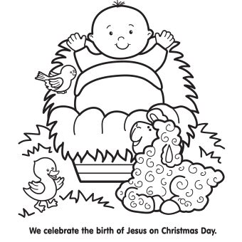 Free Baby Jesus Coloring Pages