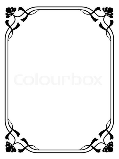 jugendstil rahmen jugendstil ornamentalen dekorativen rahmen vektorgrafik