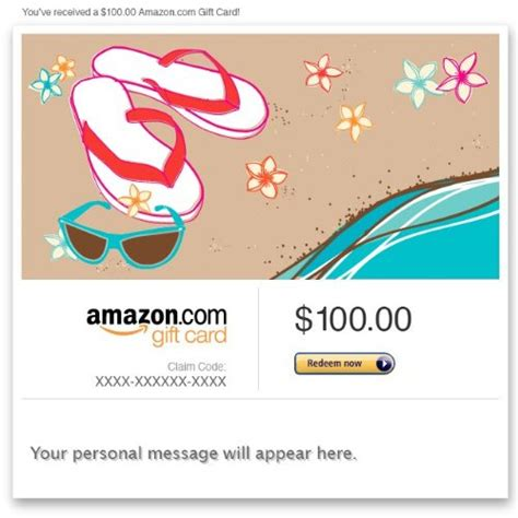 Amazon Gift Card Amounts - amazon gift card e mail beach time any amount destinations travel gear