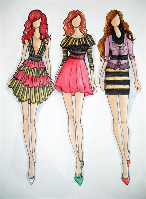 fashion design of clothes fashion designer clothes pic in cartoon in pencil sketches