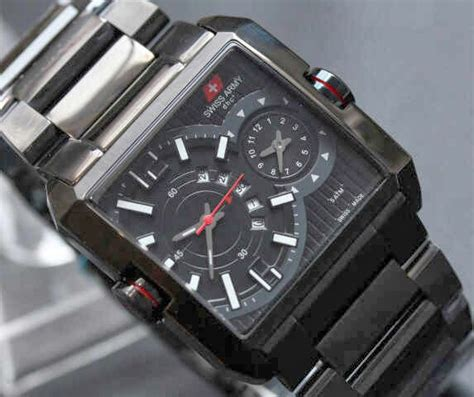 Swiss Army Dual Time Tali Hitam jam tangan swiss army 0128