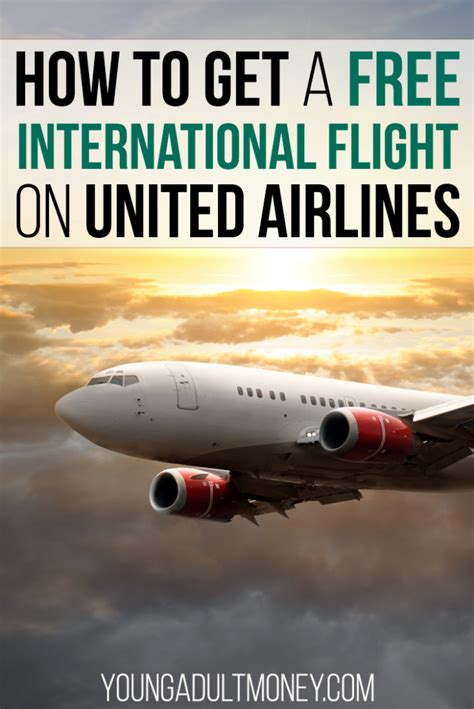 how to get a free international flight on united airlines money