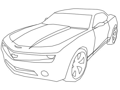 sketch 68 chevrolet camaro coloring pages