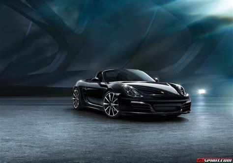 boxster porsche black official porsche boxster black edition gtspirit