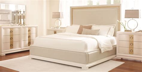 tower suite pearl upholstered platform bedroom set from