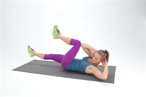 bicycle crunches popsugar fitness
