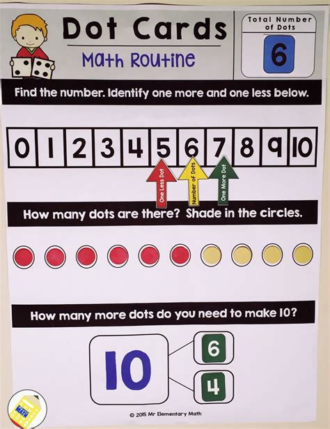 Math Dot Card Templates by Dot Cards Math Routine Numbers 1 10 Set 1 Number