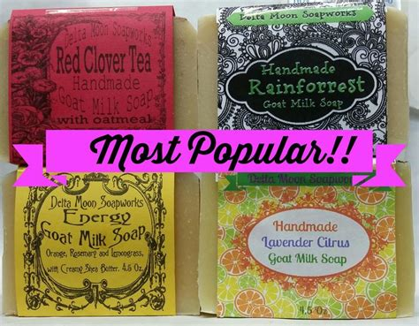 Most Popular Handmade Soap - our most popular goat milk soap collection soap