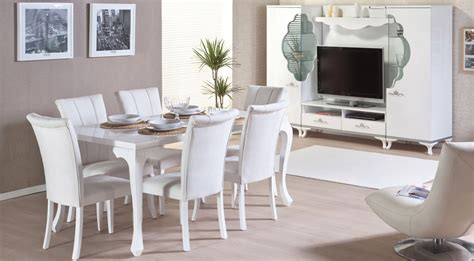 White Dining Room Sets by