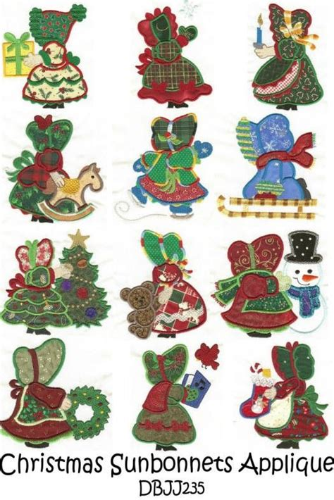sunbonnet sue applique dbjj235 merry sunbonnet sue applique