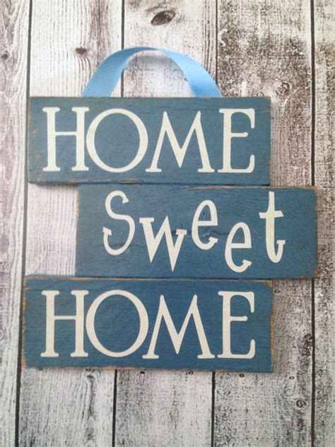 home sweet home sign made from reclaimed pallet wood home