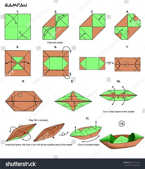 origami boat with square origami boat instructions square paper beau step by step
