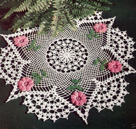 free pattern vintage crochet vintage crochet pattern to make irish rose flower doily