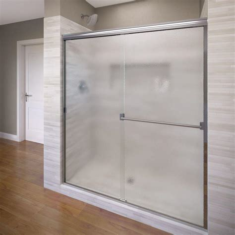 Basco Classic 44 In X 65 1 2 In Semi Frameless Sliding 44 Shower Door