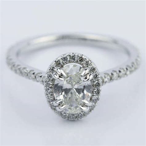 1 5 carat oval ring gold 1 carat oval cut halo engagement ring