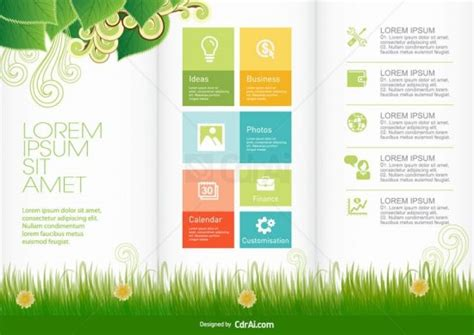 Brochure Templates Cdr File Free by Nature Brochure Design Template Vector Eps Cdr Ai