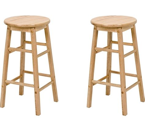 wooden kitchen bar stools buy simple value pair of natural wooden kitchen stools at