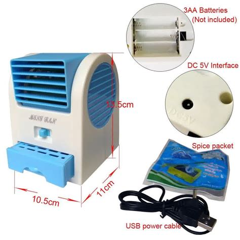 Kipas Angin Air Conditioner ac duduk mini fragrance fan kipas tanpa baling aroma