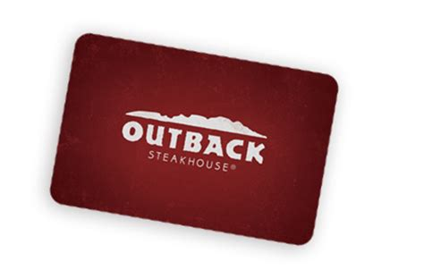 Outback Steakhouse Gift Card Balance Check - restaurant gift cards outback steakhouse