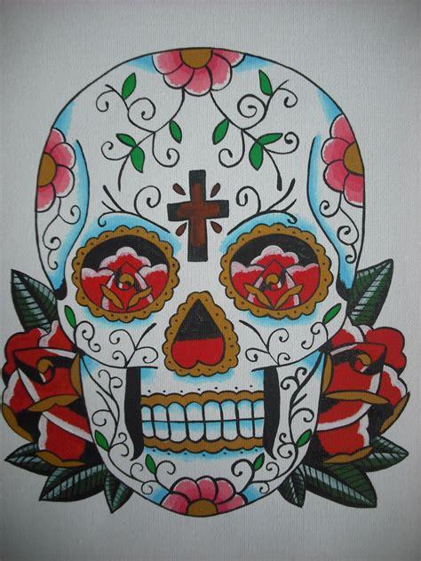 sugar skull by romantic panda on deviantart