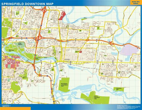 springfield il map world wall maps store springfield downtown map more