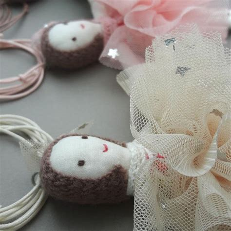 rag doll necklace 3colors handmade necklace fabric ballerina rag doll